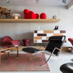 Panbeton® - Panneaux muraux béton magasin contemporain