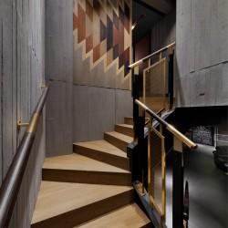 Panbeton® - Habillage mural béton escalier