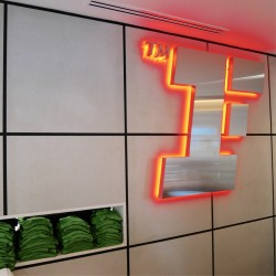Slimbeton® - Revêtement mural béton salle de sport