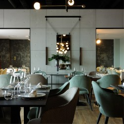Slimbeton® - Panneaux muraux béton restaurant
