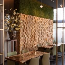 Wonderwall Studios - Panneau mural bois restaurant