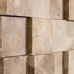 Wonderwall Studios - Zoom matière panneau mural bois Jungle