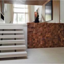 Wonderwall Studios - Habillage mural escaliers en bois