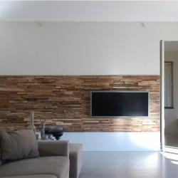 Wonderwall Studios - Habillage mural bois salon