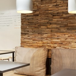 Wonderwall Studios - Panneaux muraux bois restaurant