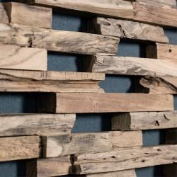 Wonderwall Studios - Zoom matière panneau mural bois Train
