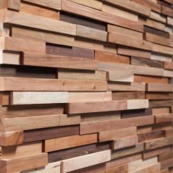 Wonderwall Studios - Zoom matière panneau mural bois Blunt