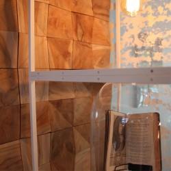 Wonderwall Studios - Zoom panneau mural en bois Willow hôtel