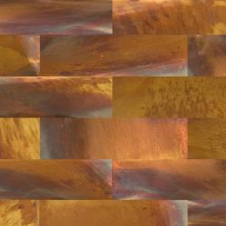 feuille patinée Brass Lava Waves en laiton